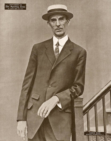 Wall Art - Painting - Connie Mack (1862-1956) by Granger