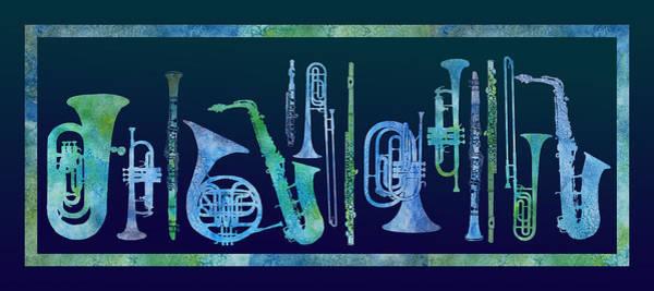 Wall Art - Digital Art - Cool Blue Band by Jenny Armitage