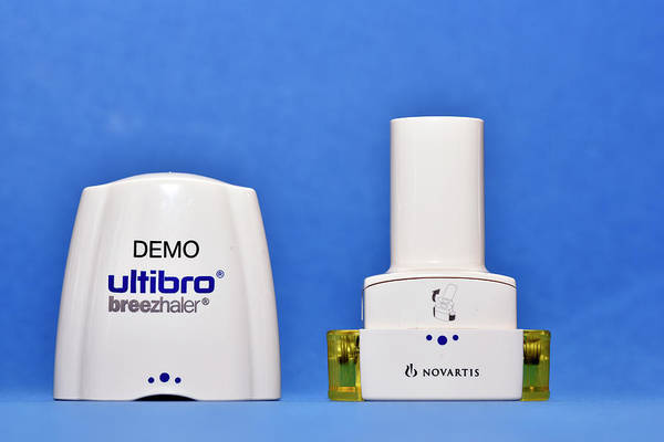 Branding Photograph - Copd Inhaler by Dr P. Marazzi/science Photo Library
