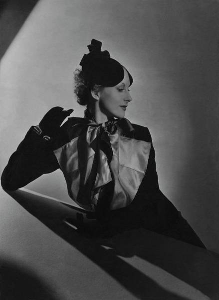 Celebrities Photograph - Cora Hemmet Wearing Reboux And Boucheron by Horst P. Horst