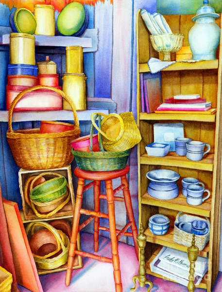 Still-life Painting - Corner Of Time by Hailey E Herrera