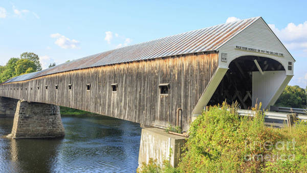 Paysage Wall Art - Photograph - Cornish-windsor Covered Bridge IIi by Edward Fielding