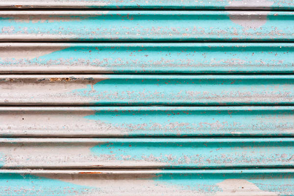 Silvery Photograph - Corrugated Metal by Tom Gowanlock