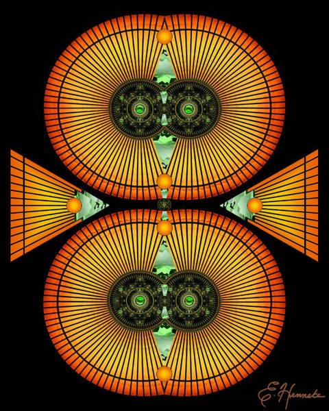Stripe Mixed Media - Cosmic Mitosis by Ellen Henneke