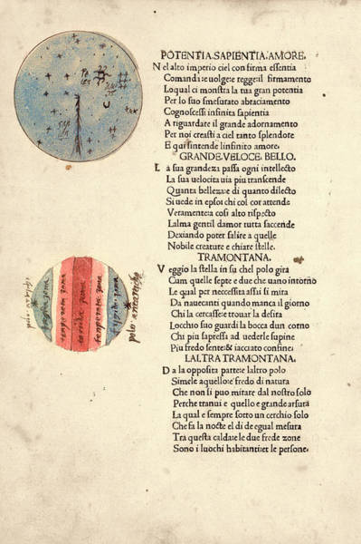 Poems Photograph - Cosmographic Poem by Library Of Congress