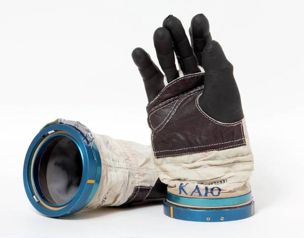 Cosmonaut Wall Art - Photograph - Cosmonaut Spacesuit Gloves by Detlev Van Ravenswaay