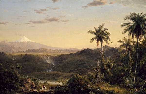 Metaphor Painting - Cotopaxi by Frederic Edwin Church