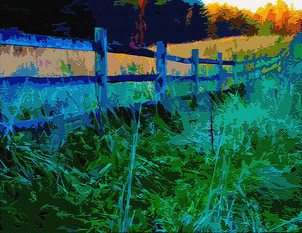 Fence Post Digital Art - Country Fence by Brian Stevens