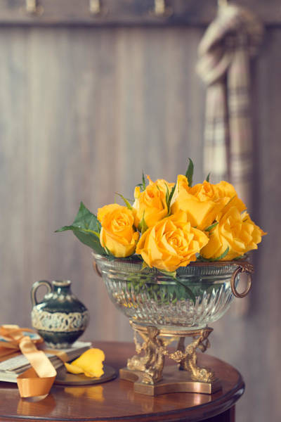 Rose Bowl Photograph - Country House Interior by Amanda Elwell