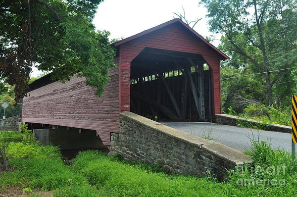 Covered Bridge Photograph - Covered Bridge by Mike Baltzgar