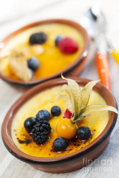 Wall Art - Photograph - Creme Brulee Dessert by Elena Elisseeva