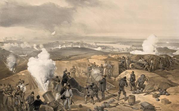 Wall Art - Painting - Crimean War Artillery by Granger