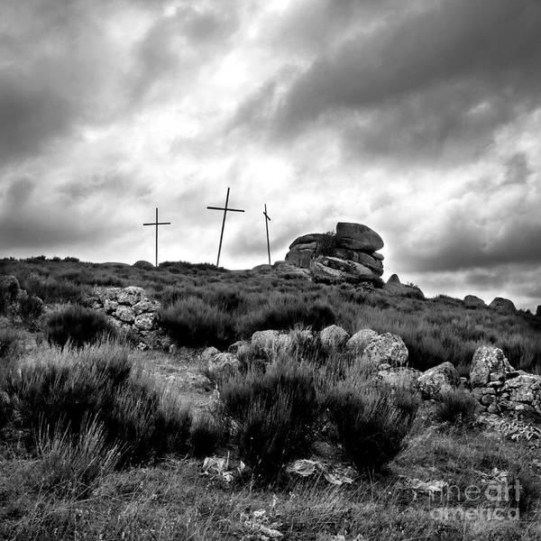 Black Cap Photograph - Cross by Bernard Jaubert