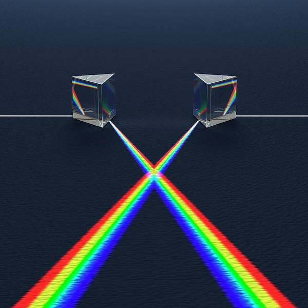 Photograph - Crossed Prisms With Spectra by David Parker