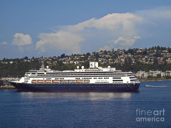 Holland America Line Wall Art - Photograph - Cruise Ship Amsterdam by Howard Stapleton