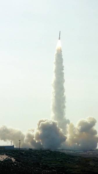 Atlantic Station Photograph - Cygnus Cargo Spacecraft Launch by Nasa/bill Ingalls