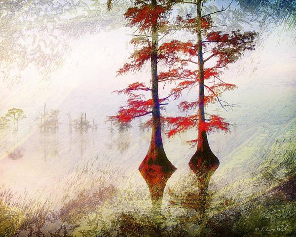Cypress Digital Art - Cypress Abstract by J Larry Walker