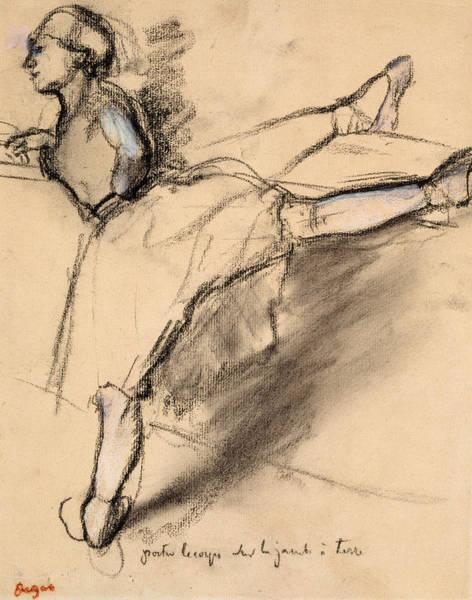 Edgar Wall Art - Drawing - Dancer At The Bar by Edgar Degas