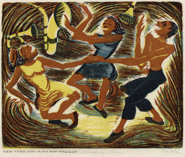 Wall Art - Painting - Dancing, C1940 by Granger