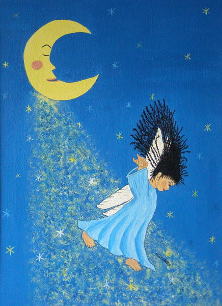 Cielo Wall Art - Painting - Dancing On Moonbeams by Pamela Allegretto