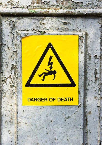Voltage Photograph - Danger Of Death by Tom Gowanlock