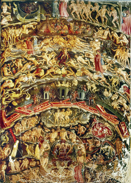 Illumination Painting - Dante Divine Comedy by Granger