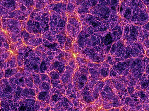 Wall Art - Photograph - Dark Matter Distribution by Volker Springelmax Planck Institute For Astrophysics