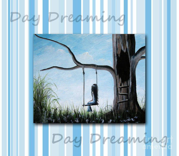 Faceless Painting - Day Dreaming By Shawna Erback by Erback Art
