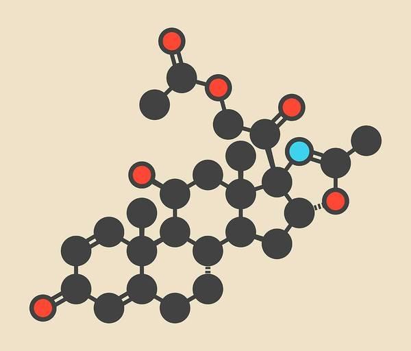 Wall Art - Photograph - Deflazacort Glucocorticoid Drug Molecule by Molekuul/science Photo Library