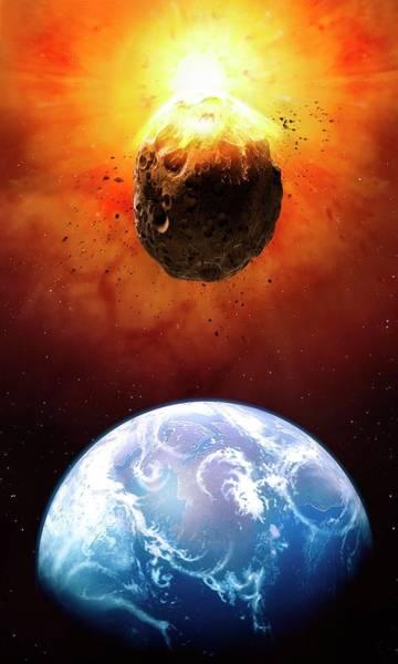 Approach Wall Art - Photograph - Deflecting A Near-earth Asteroid by Mark Garlick