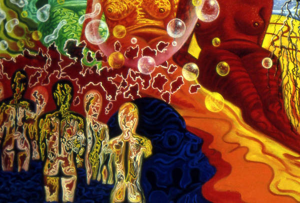 Sexuality Mixed Media - Detail From - The Dreamer's Night by Genio GgXpress