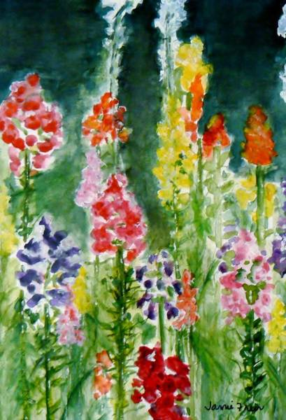 Snapdragons Painting - Donna's Snaps by Jamie Frier