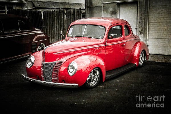 Wall Art - Photograph - 2 Door Red by Perry Webster