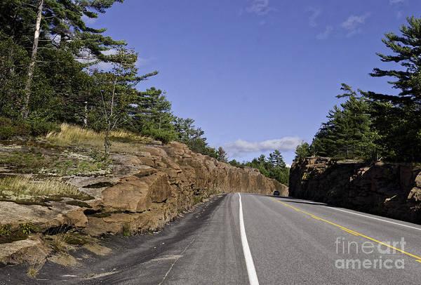 Photograph - Driving Through A Rock Cut by Les Palenik