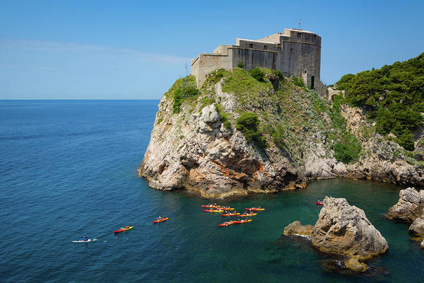 Canoeist Wall Art - Photograph - Dubrovnik, Dubrovnik-neretva County by Panoramic Images