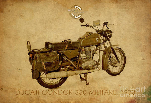 Ducati Condor 350 Militare 1973 Art Print