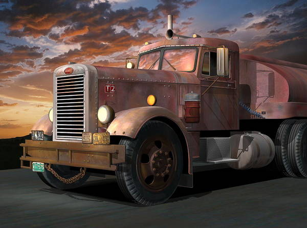 Wall Art - Digital Art - Duel Truck by Stuart Swartz