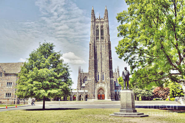 Duke University Photograph - Duke Chapel In Spring by Emily Kay