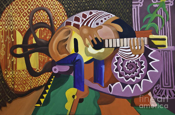 Painting - The Guitarist by James Lavott