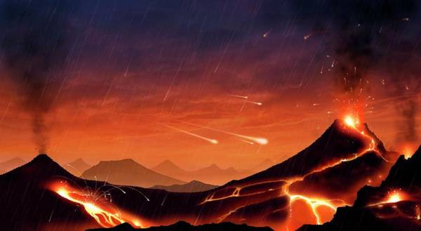 Forming Wall Art - Photograph - Early Earth by Mark Garlick/science Photo Library