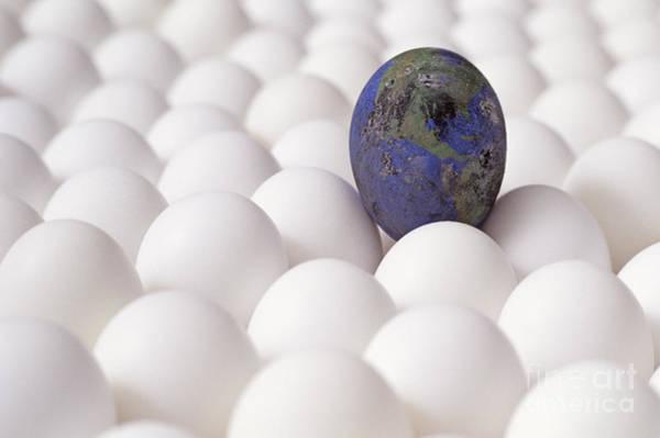 Earth Egg Pollution Art Print