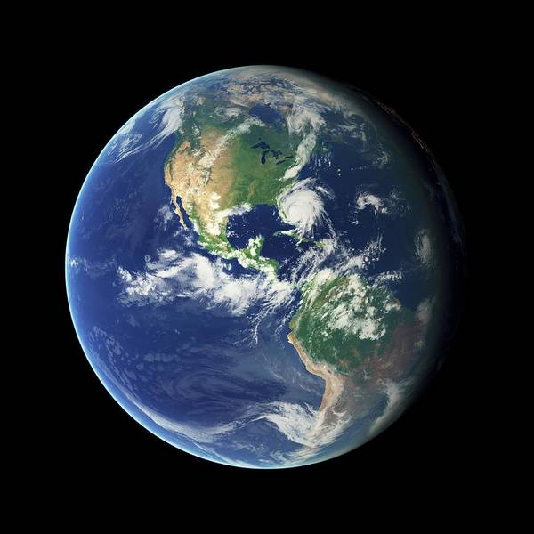 Earth Observation Wall Art - Photograph - Earth From Space by Nasa
