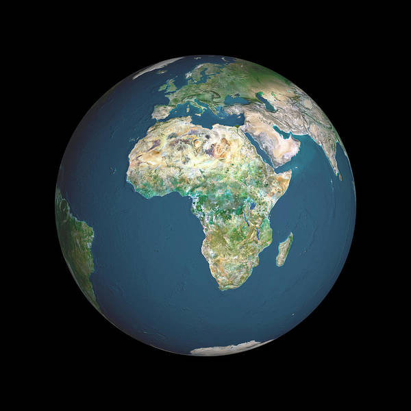 Equatorial Africa Wall Art - Photograph - Earth by Planetobserver/science Photo Library