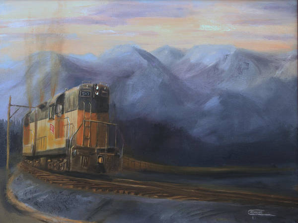 Wall Art - Painting - East Of The Belt Range by Christopher Jenkins
