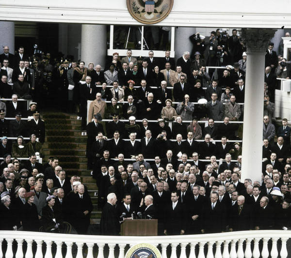 Photograph - Eisenhower Inauguration by Granger