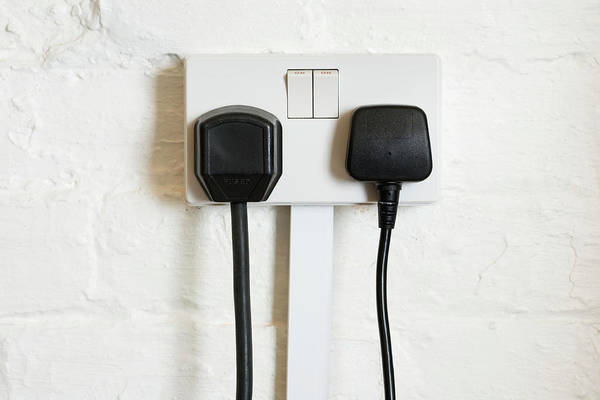 Plug-in Photograph - Electrical Power Socket by Emmeline Watkins/science Photo Library