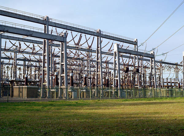 Facilities Photograph - Electricity Substation by Robert Brook/science Photo Library