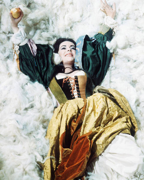 Wall Art - Photograph - Elizabeth Taylor In The Taming Of The Shrew  by Silver Screen