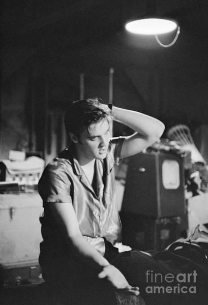 Dayton Photograph - Elvis Presley 1956 by The Harrington Collection
