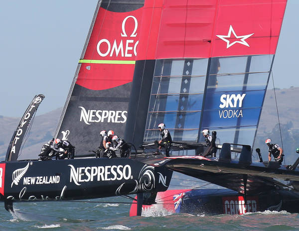Photograph - Emirates Team New Zealand by Steven Lapkin